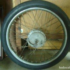 Coches y Motocicletas: RUEDA DELANTERA COMPLETA 2 - 1/4 X 17 TAMBOR CICLOMOTOR . Lote 118897595