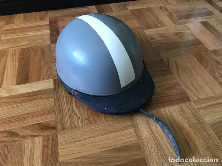 Coches y Motocicletas: Antiguo casco para motocicleta plastic Flex - Foto 5 - 126243823