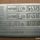 Coches y Motocicletas: SEAT 850 ESPECIAL-PLACA IDENTIFICATIVA. Lote 127174327