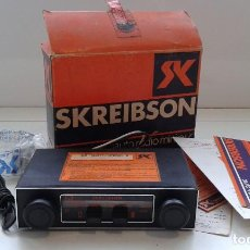 Coches y Motocicletas: RADIO COCHE ANTIGUO SKREIBSON MODELO SK 8301,SEAT 127,FIAT 600.. Lote 127564887