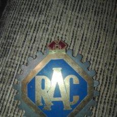 Coches y Motocicletas: PLACA METALICA PARA COCHE RAC REAL AUTOMOVIL CLUB AÑOS 50 DE 9X9 CM. Lote 127992747