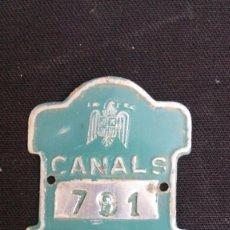 Coches y Motocicletas: ANTIGUA PLACA BICICLETA CANALS - 791- AÑO 1967. Lote 128386067