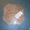 Coches y Motocicletas: BARCEONA - ANTIGUA PLACA AÑOS 1923-27 MATRICULA AUTO 4621 - ROMEU Y MORATALLA - MATERIAL LATON , . Lote 129137995