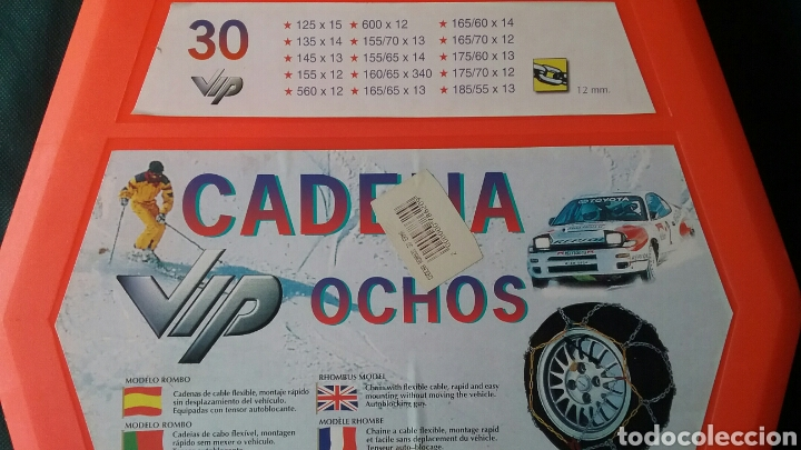 Coches y Motocicletas: CADENAS VIP OCHOS.PARA COCHES.PARA CIRCULAR EN LA NIEVE.NUEVAS.SIN USAR. - Foto 2 - 131926862