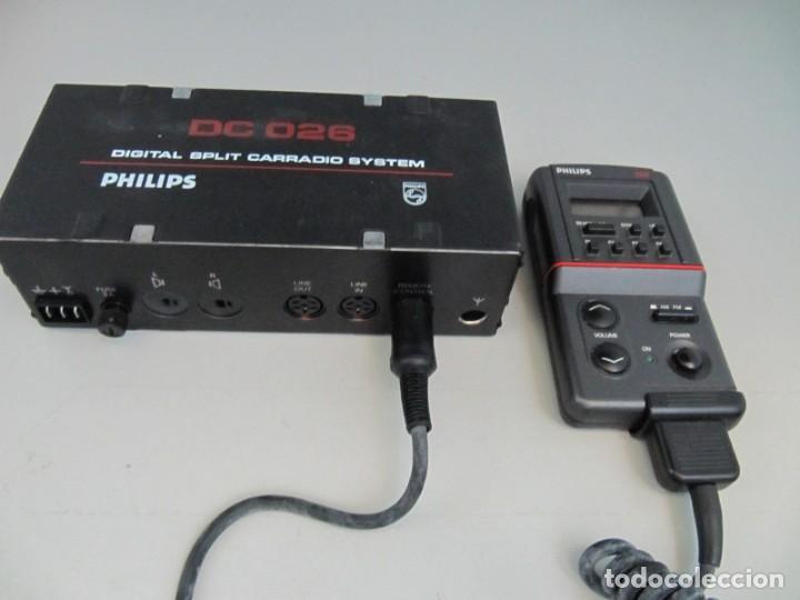 PHILIPS DC026 - DIGITAL SPLIT CAR RADIO SYSTEM - AM-FM. SIN PROBAR, MUY BUENA APARIENCIA (Coches y Motocicletas - Repuestos y Piezas (antiguos y clásicos))