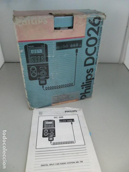 Coches y Motocicletas: PHILIPS DC026 - DIGITAL SPLIT CAR RADIO SYSTEM - AM-FM. Sin probar, muy buena apariencia - Foto 3 - 211898542