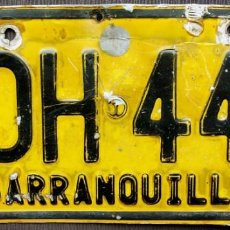 Coches y Motocicletas: COLOMBIA. BARRANQUILLA. ANTIGUA MATRICULA. ORIGINAL.. Lote 132551426