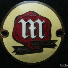 Coches y Motocicletas: MONTESA MOTOCICLETAS-EMBLEMA ORIGINAL/ ESCUDO LOGOTIPO. Lote 133553938