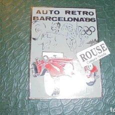 Coches y Motocicletas: ANTIGUA PLACA - AUTO RETRO BARCELONA , 86- 10X7 CM. PERFECTO . Lote 134371054