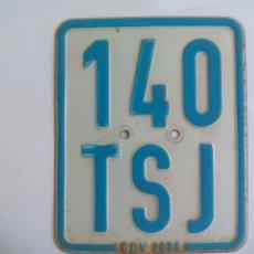 Carros e motociclos: PLACA DE MATRICULA DE MOTOCICLETA O MOTO DE ALEMANIA, 140 TSJ GDV.GERMANY. LICENSE PLATE TIN SIGN. Lote 135034782