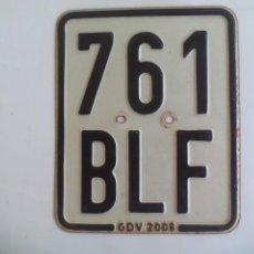 Carros e motociclos: PLACA DE MATRICULA DE MOTOCICLETA O MOTO DE ALEMANIA, 761 BFL GDV.GERMANY. LICENSE PLATE TIN SIGN. Lote 135035022