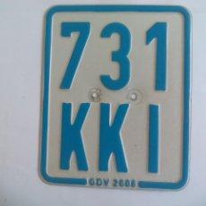 Carros e motociclos: PLACA DE MATRICULA DE MOTOCICLETA O MOTO DE ALEMANIA, 731 KKI GDV.GERMANY. LICENSE PLATE TIN SIGN. Lote 135036498