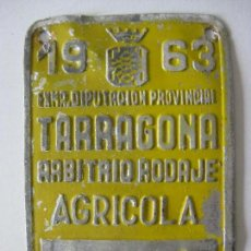 Coches y Motocicletas: TARRAGONA ARBITRIO RODAJE AGRICOLA 1963. Lote 135749714