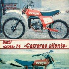 Coches y Motocicletas: HORQUILLA BETOR (LICENCIA MARZOCCHI) ORIGINAL DE LA DERBI 74 CARRERAS COMPETICIÓN CLIENTE DE 1977. Lote 137255798