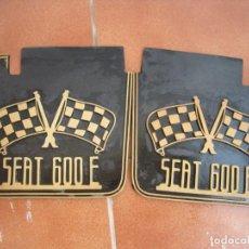 Coches y Motocicletas: GOMAS FALDILLA RUEDAS GUARDABARROS SEAT 600 . Lote 138949366