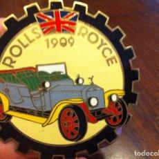 Coches y Motocicletas: ROLLS ROYCE 1909. EMBLEMA PLACA CHAPA METÁLICA. PARA COCHE VEHÍCULO CLÁSICO. ORIGINAL.. Lote 139653786