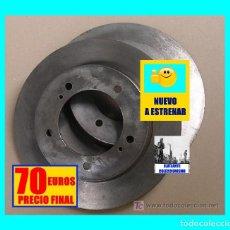 Coches y Motocicletas: SUZUKI SANTANA SJ 410 / 413 / SJ50 SAMURAI 1000/1300 JUEGO 2 DISCOS DELANTEROS DE FRENO NUEVOS - 70€. Lote 140192954