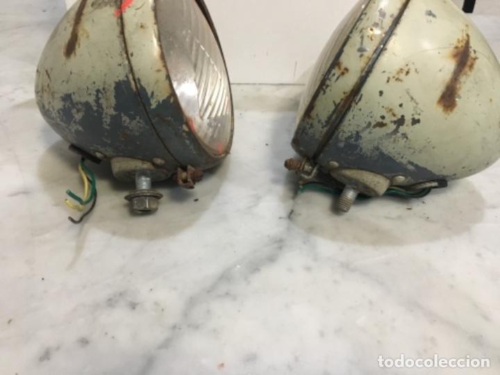 Coches y Motocicletas: (M) antigua pareja de focos coche citroen 2 cv. 11X17 cm . Señales de uso - Foto 4 - 143182450