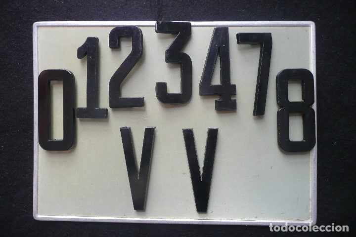Vehiculos Clasicos Matricula Aluminio Placa Antiguanumerosletras DYWIe9E2Hb