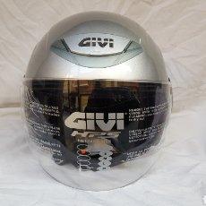 Coches y Motocicletas: CASCO MOTO GIVI. GRIS PLATA. Lote 145710725