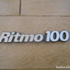 Coches y Motocicletas: INSIGNIA EMBLEMA PLÁSTICO RITMO 100 .. Lote 194237553
