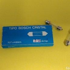 Coches y Motocicletas: CAJA DE 10 FUSIBLES 30 AMP. BOSCH CRISTAL. Lote 148995817
