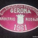 Coches y Motocicletas: DIPUTACION PROVINCIAL DE GERONA ARBITRIO RODAJE 1961. Lote 149398146