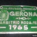 Coches y Motocicletas: DIPUTACION PROVINCIAL DE GERONA ARBITRIO RODAJE 1965. Lote 149398222