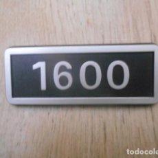 Coches y Motocicletas: INSIGNIA EMBLEMA PLÁSTICO 1600 SEAT .. Lote 149548674