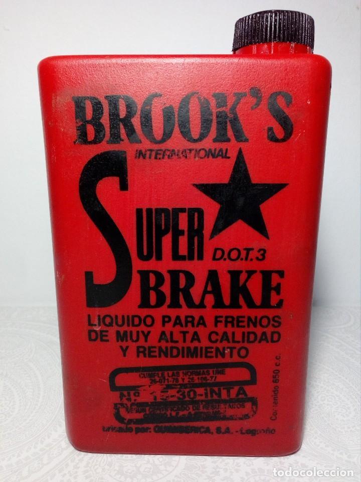 Coches y Motocicletas: ANTIGUO BOTE DE PLÁSTICO DE LÍQUIDO DE FRENOS (QUIMIBERICA S.A. DE LOGROÑO) BROOK´S SUPER BRAKE - Foto 3 - 149767174