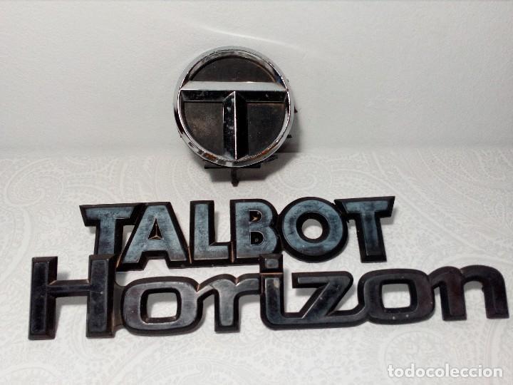 INSIGNIAS TALBOT HORIZON (Coches y Motocicletas - Repuestos y Piezas (antiguos y clásicos))