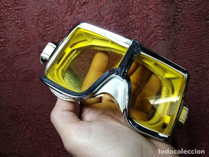 Coches y Motocicletas: gafas motorista motociclismo piloto climax AÑOS 60-70 .BLANCAS Y CRISTAL AMARILLO.MODEL .520..raro ! - Foto 4 - 151688502