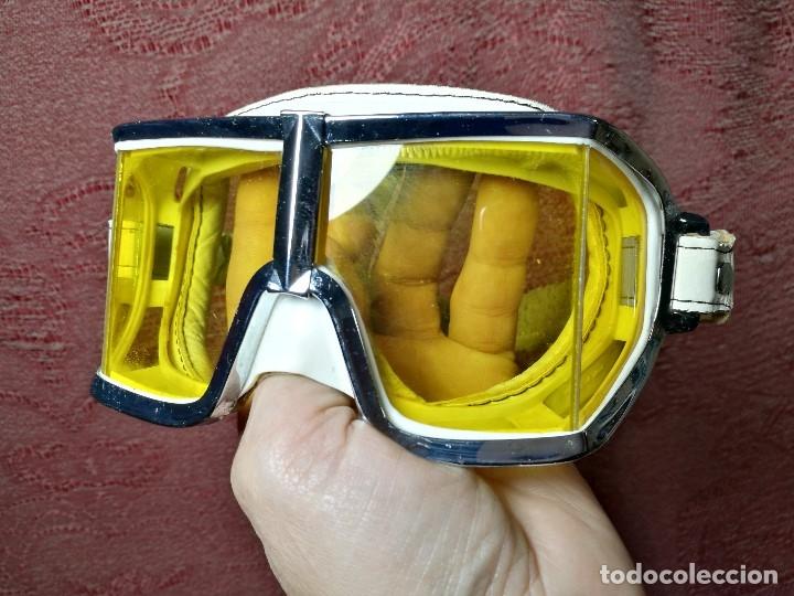 Coches y Motocicletas: gafas motorista motociclismo piloto climax AÑOS 60-70 .BLANCAS Y CRISTAL AMARILLO.MODEL .520..raro ! - Foto 22 - 151688502