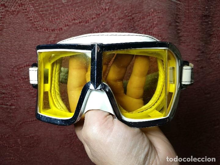 Coches y Motocicletas: gafas motorista motociclismo piloto climax AÑOS 60-70 .BLANCAS Y CRISTAL AMARILLO.MODEL .520..raro ! - Foto 24 - 151688502