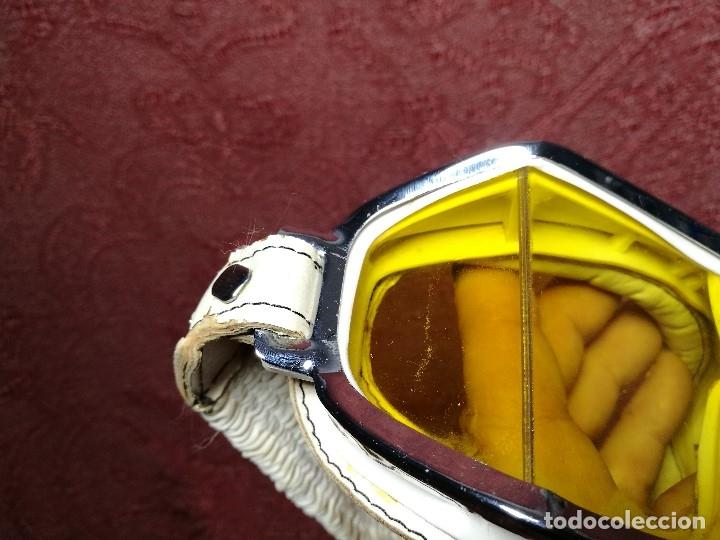 Coches y Motocicletas: gafas motorista motociclismo piloto climax AÑOS 60-70 .BLANCAS Y CRISTAL AMARILLO.MODEL .520..raro ! - Foto 28 - 151688502