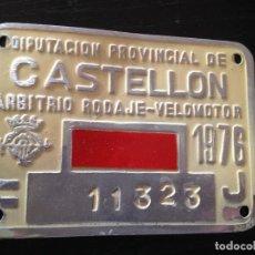 Coches y Motocicletas: DIPUTACION PROVINCIAL DE CASTELLON-ARBITRIO RODAJE-VELOMOTOR 1976. Lote 151853394