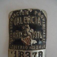 Coches y Motocicletas: CHAPA DE BICICLETA DE VALENCIA AÑO 1974. --- 3. Lote 154472814