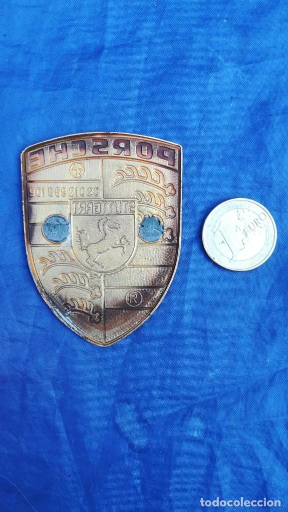 Coches y Motocicletas: Logotipo chapa antigua de coche Porsche - Foto 2 - 155616938