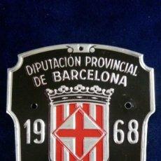 Coches y Motocicletas: ANTIGUA PLACA MATRICULA BARCELONA RODAJE 1968 BICICLETA O CARRO. Lote 155661738