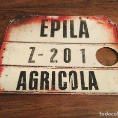 Coches y Motocicletas: MATRICULA METALICA AGRICOLA EPILA . Lote 156875126