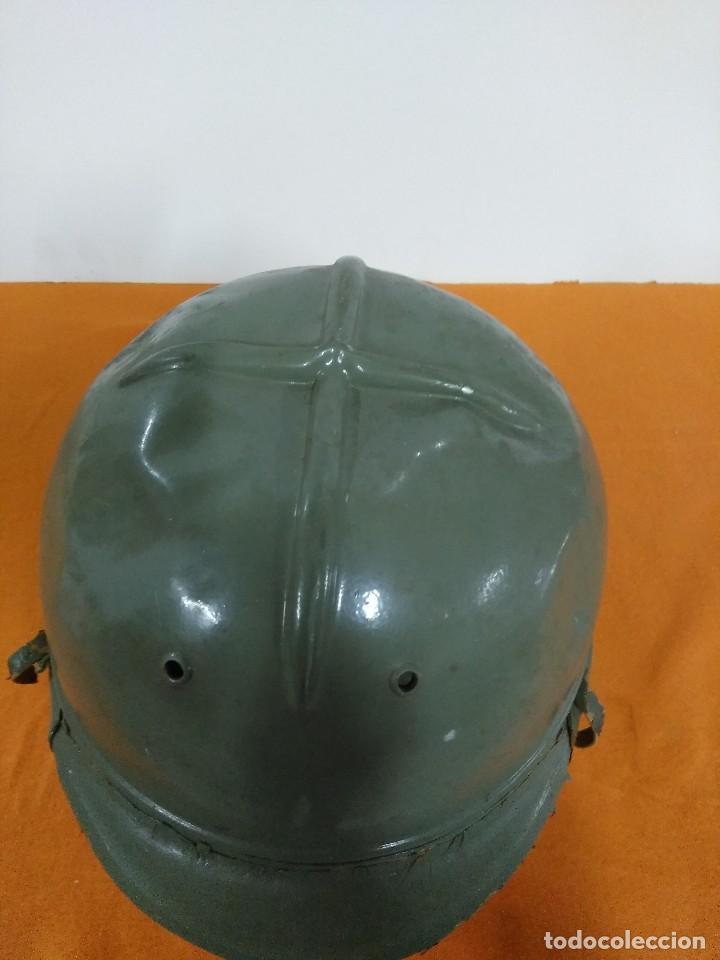 Coches y Motocicletas: casco de moto del parque movil epoca franco y del ministerio de obras publicas - Foto 3 - 173641117