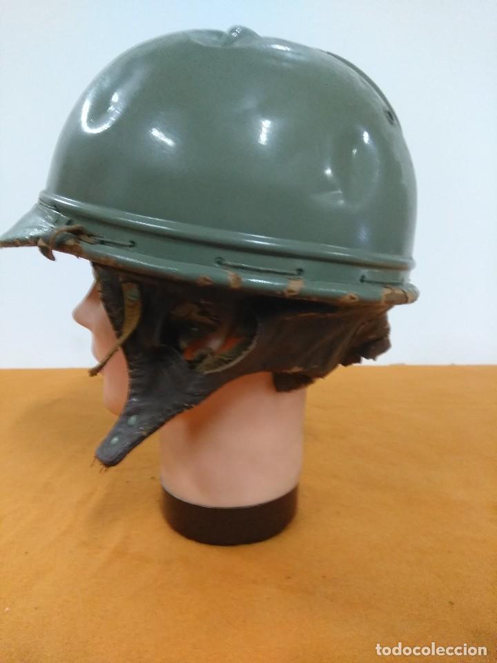 Coches y Motocicletas: casco de moto del parque movil epoca franco y del ministerio de obras publicas - Foto 4 - 173641117