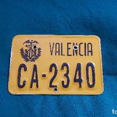Coches y Motocicletas: MATRICULA CICLOMOTOR VALENCIA. Lote 159746002