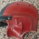 Coches y Motocicletas: CASCO ANTIGUO DE PIEL VOLIDOR MODELO TRAID BARCELONA . Lote 160369426
