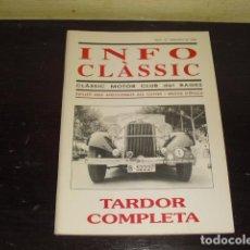 Coches y Motocicletas: INFO CLÀSSIC Nº16 SEPTIEMBRE DE 1995 -. Lote 160389922