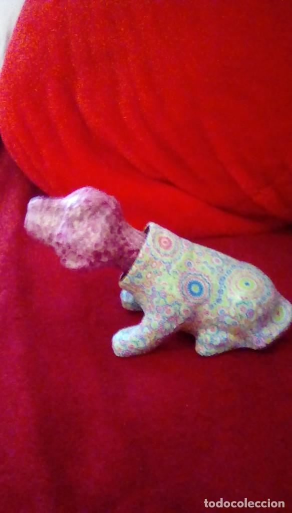Coches y Motocicletas: Antiguo perro cabeza balancin hecho de carton piedra,forrado con papel de colores,para coche. - Foto 2 - 162040306