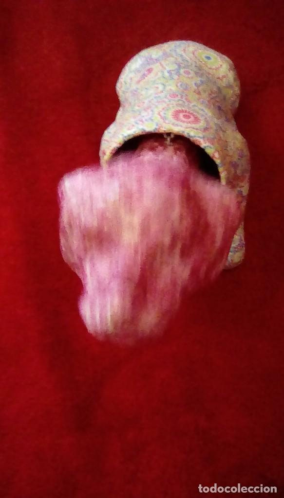 Coches y Motocicletas: Antiguo perro cabeza balancin hecho de carton piedra,forrado con papel de colores,para coche. - Foto 4 - 162040306