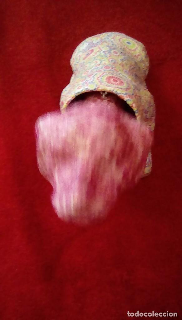 Coches y Motocicletas: Antiguo perro cabeza balancin hecho de carton piedra,forrado con papel de colores,para coche. - Foto 5 - 162040306