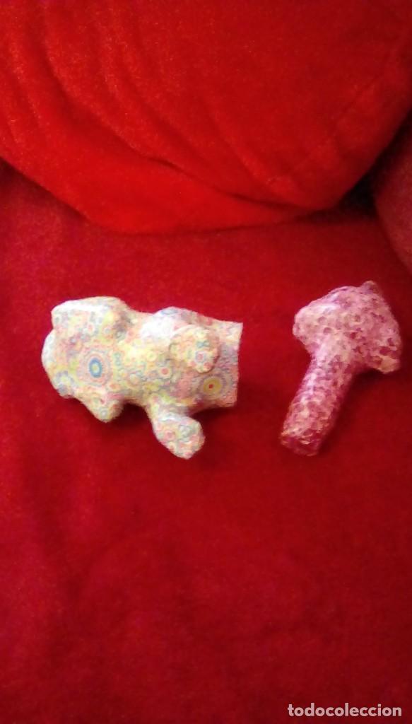 Coches y Motocicletas: Antiguo perro cabeza balancin hecho de carton piedra,forrado con papel de colores,para coche. - Foto 7 - 162040306