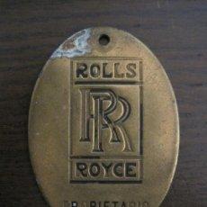 Coches y Motocicletas: ROLLS ROYCE-CHAPA DE PROPIETARIO-VER FOTOS-(V-16.955). Lote 163967086